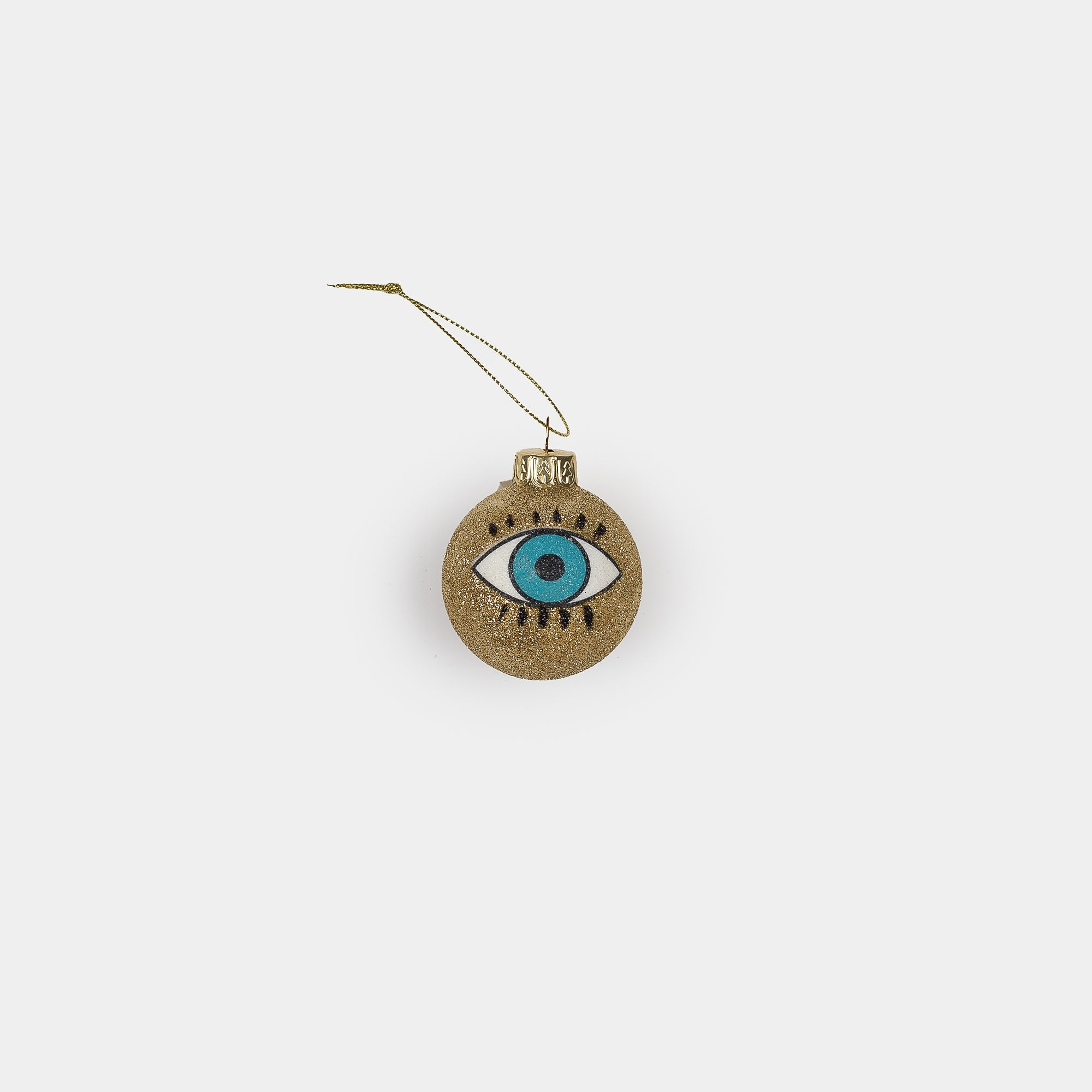Blue Eye Ornament Gold