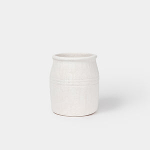 White Terra Cotta Crock