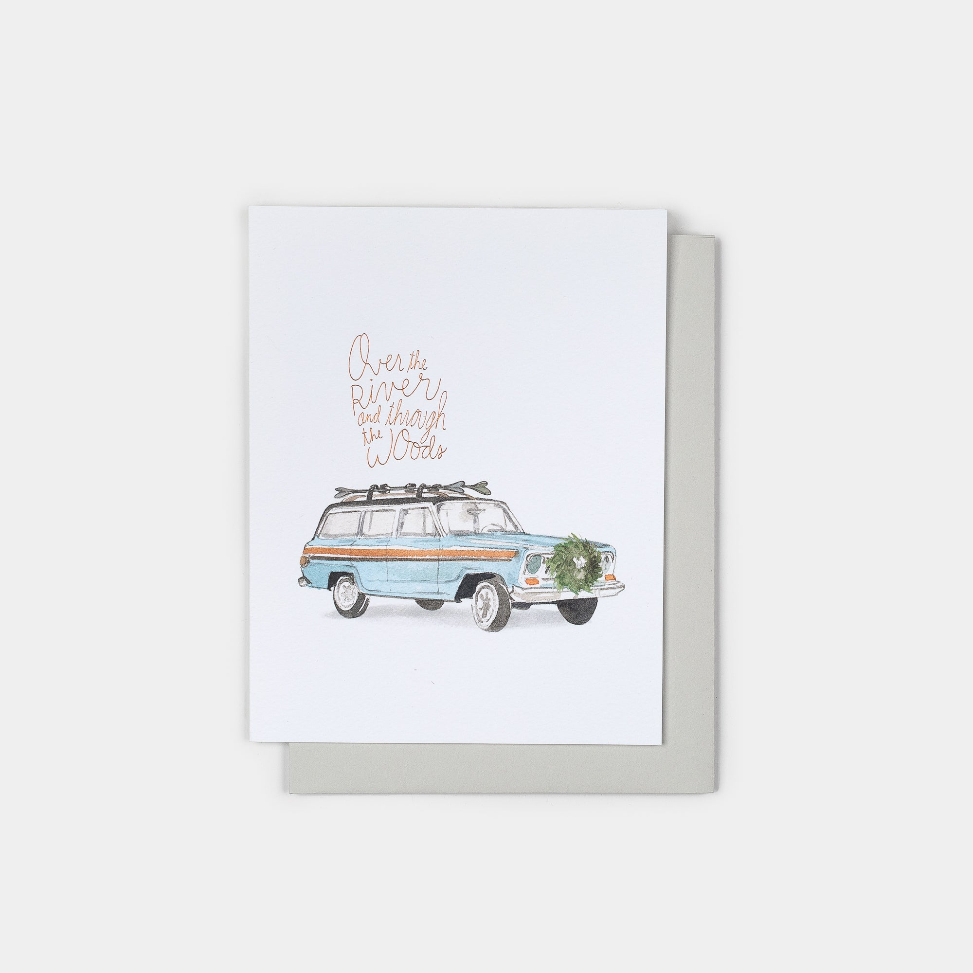 Woodsy Wagoneer Holiday Card