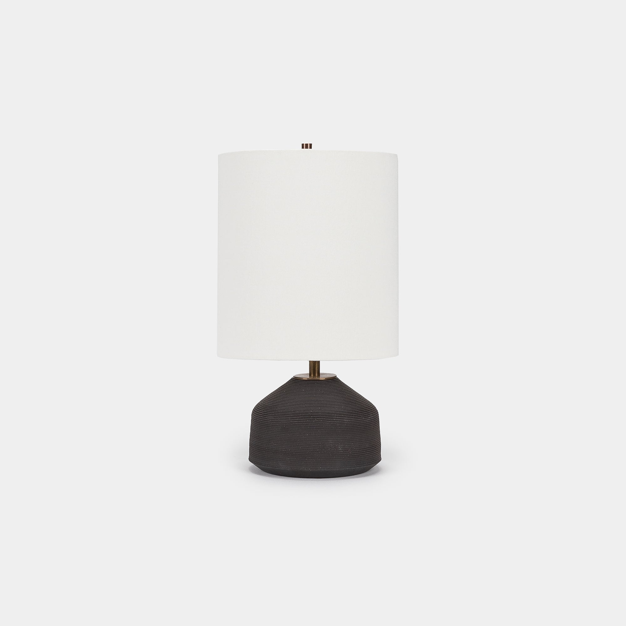 Ribbed Black Sand Agnes Lamp