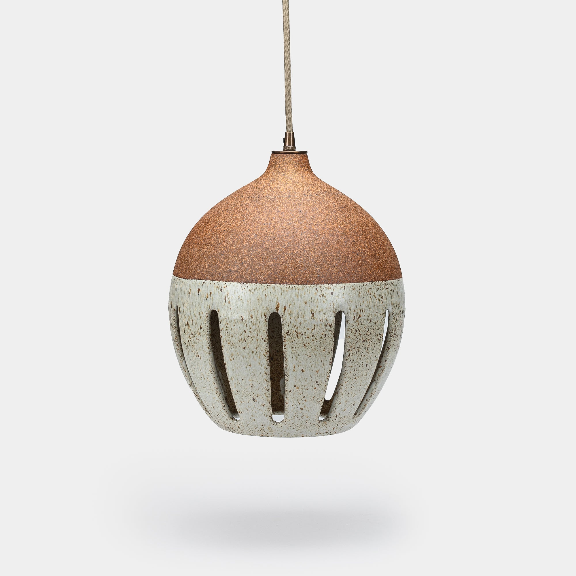 Large Stripe Ceramic Pendant by Heather Levine
