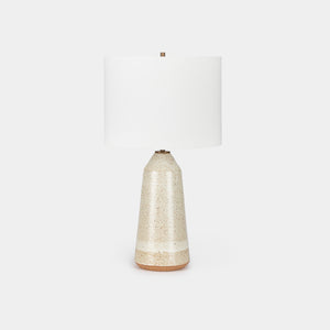 Speckled White Thimble Lamp