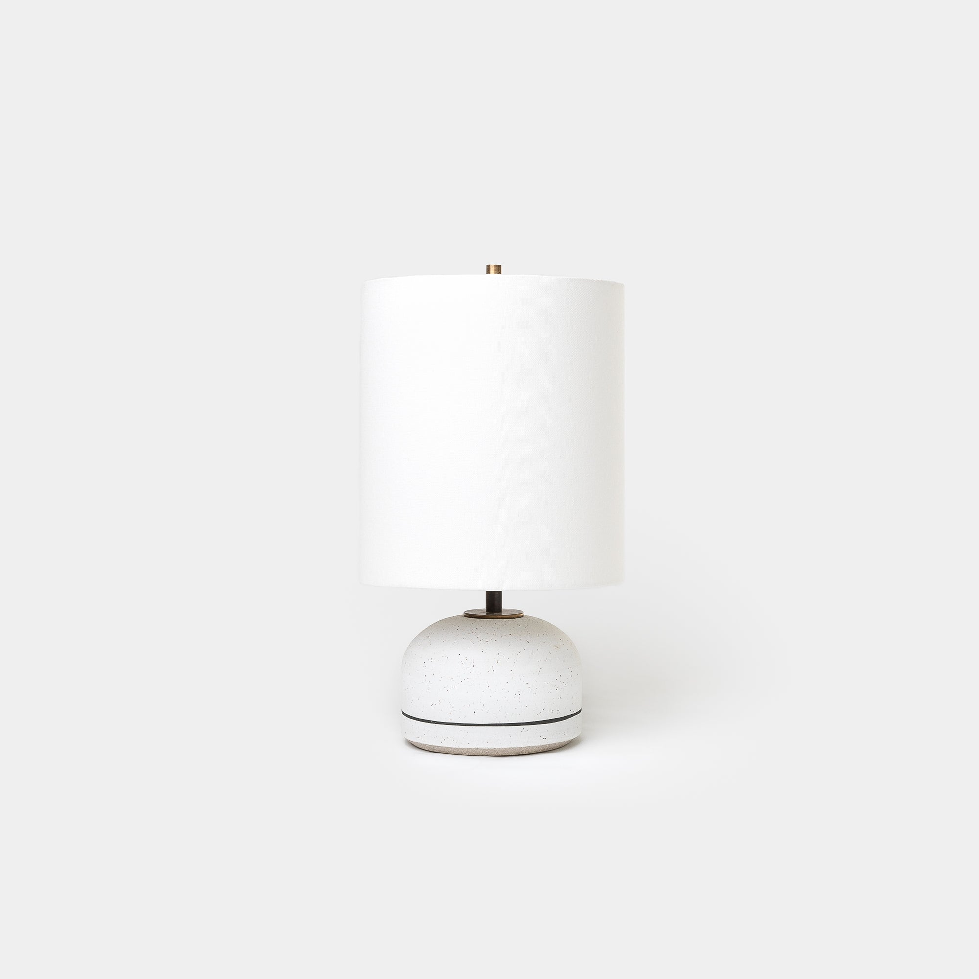 Matte White Agnes Lamp Striped