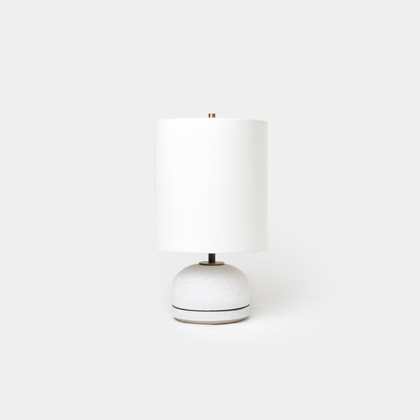 Matte White Agnes Lamp Striped - Lighting - Designer - Lamps – Shoppe Amber Interiors