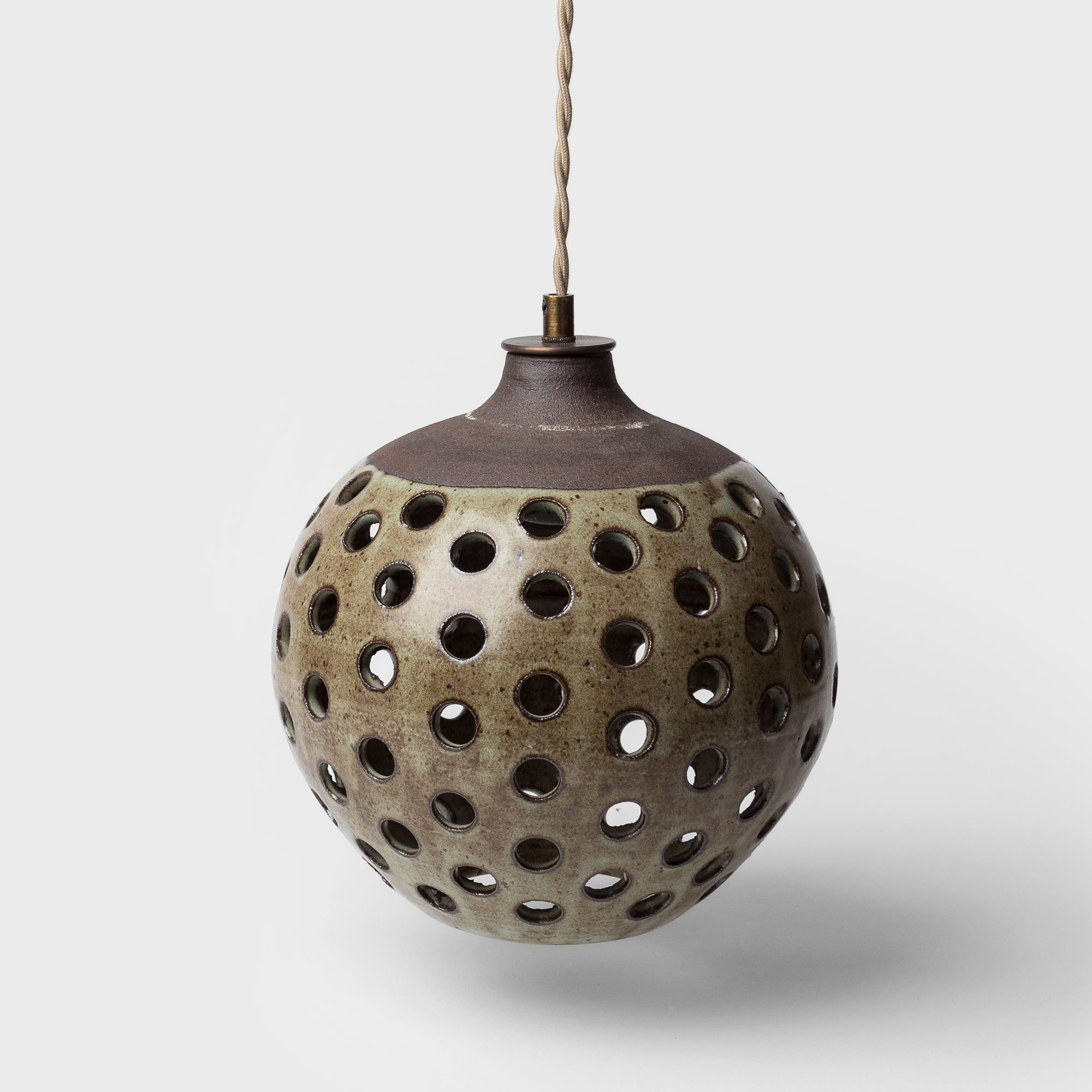 Small Green Dot Ceramic Pendant by Heather Levine - Lighting - Designer – Shoppe Amber Interiors