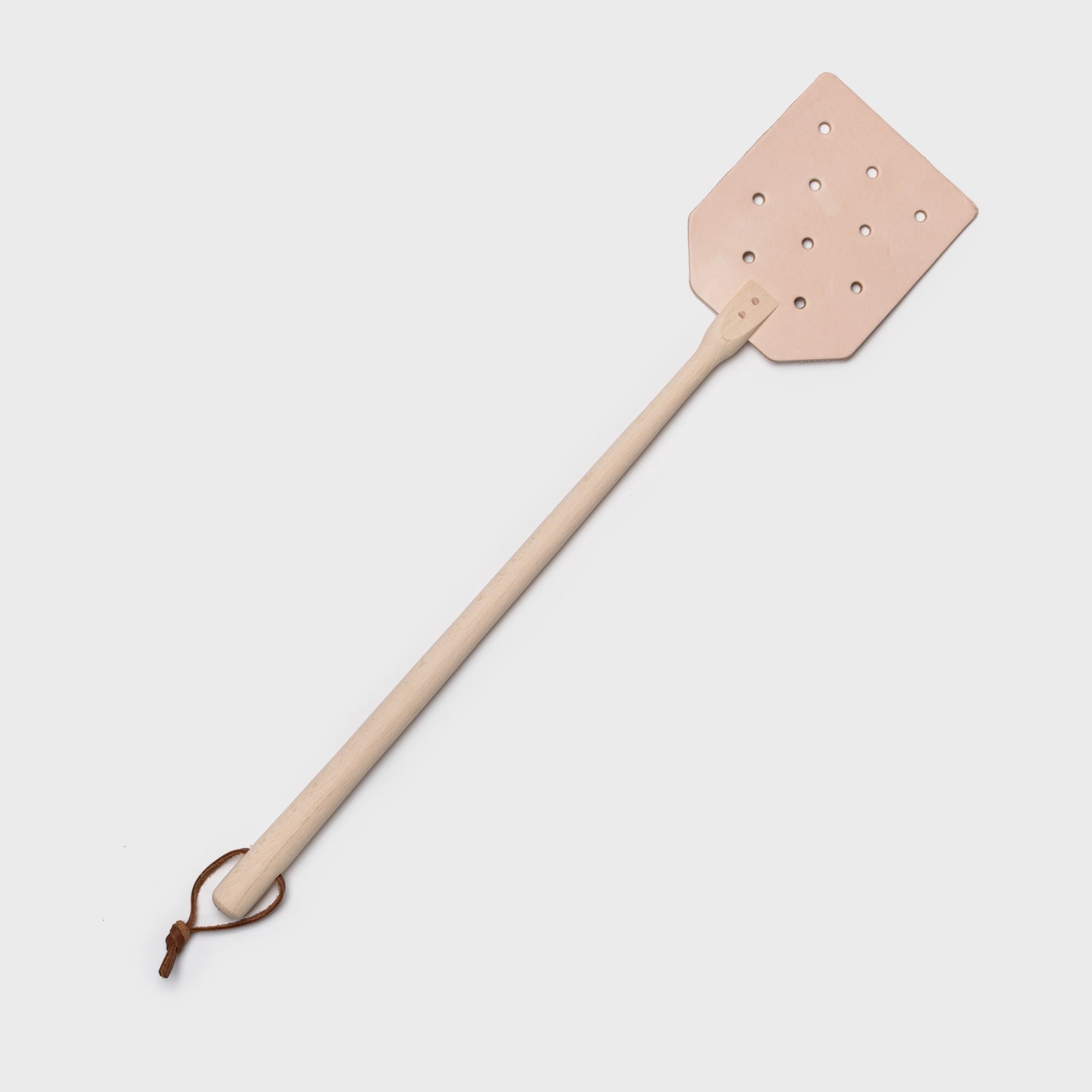 Shoppe Amber Interiors Leather Fly Swatter Natural