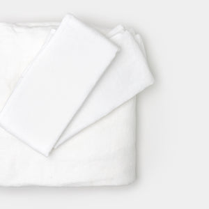 Single Vintage Linen White Pillowcase by Matteo