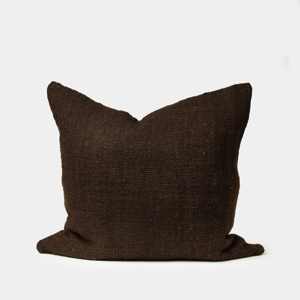 Makun Pillow in Dark Brown - Pillow – Shoppe Amber Interiors