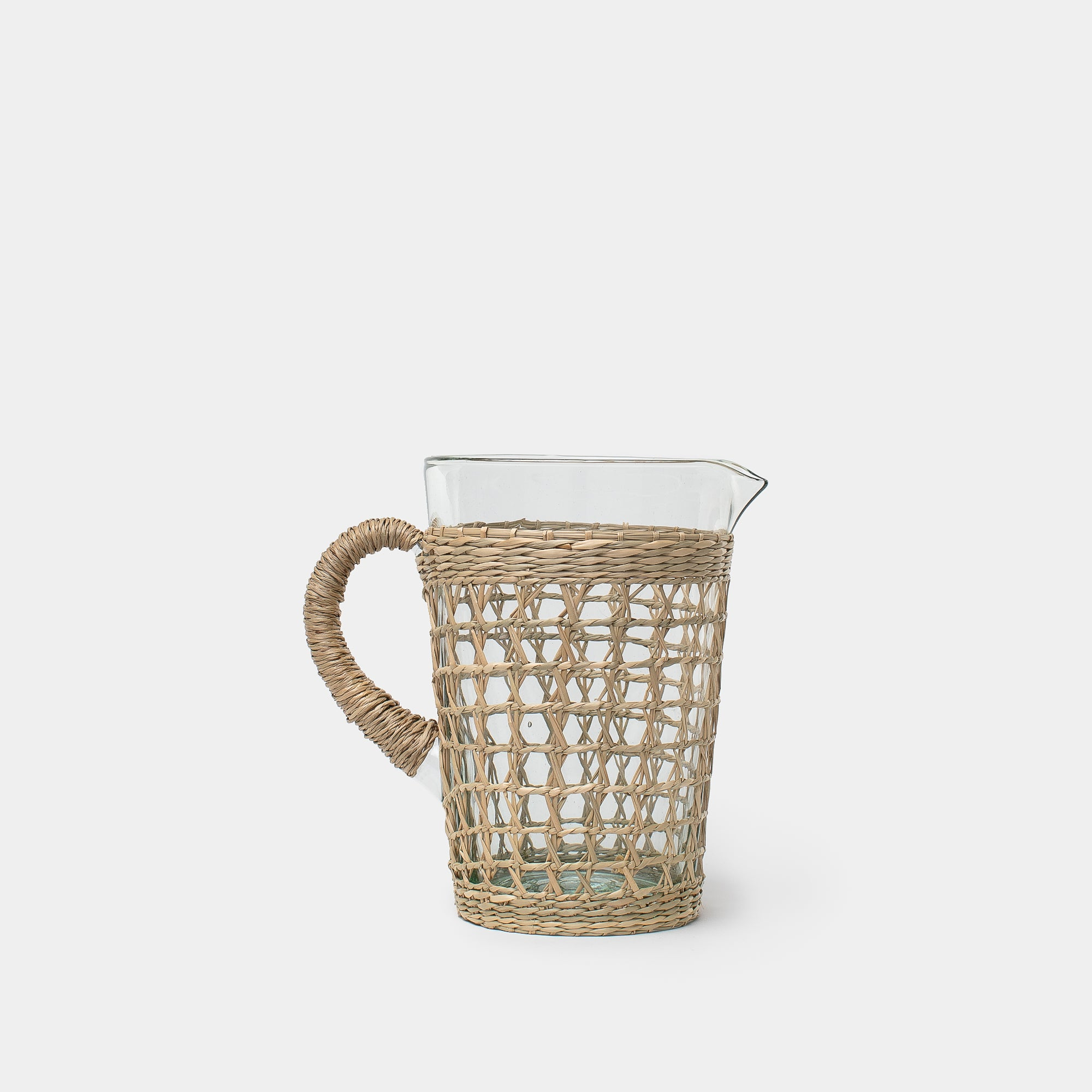 Seagrass Cage Pitcher - Glassware – Shoppe Amber Interiors