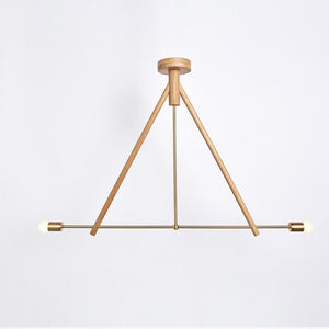 Lodge Chandelier II in Natural Oak