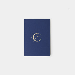 Gold Foil Moon and Stars Card
