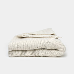 Sur Cable Knit Throw Oatmeal