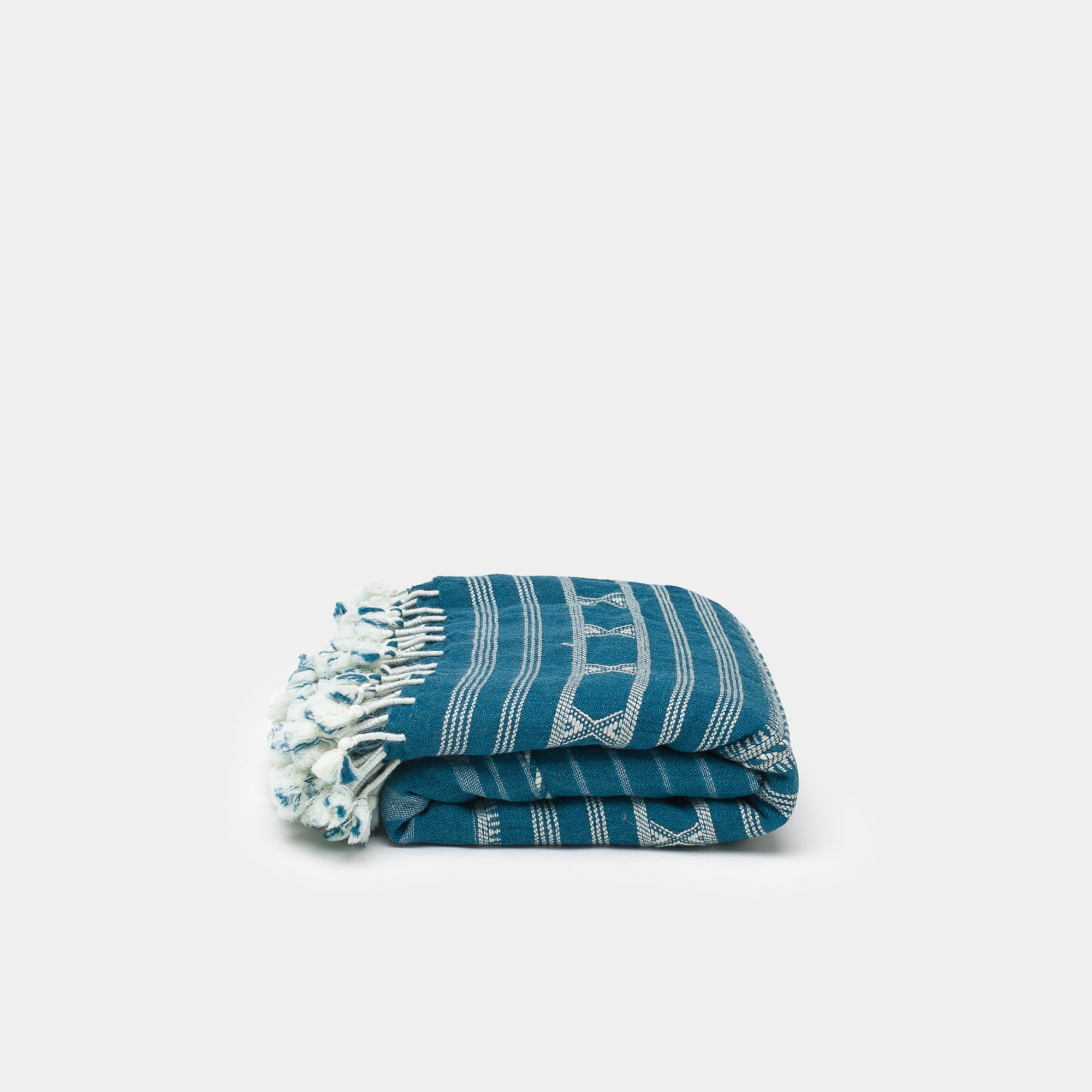 Kutch Horizon Indigo Silk Wool Throw - Blankets – Shoppe Amber Interiors