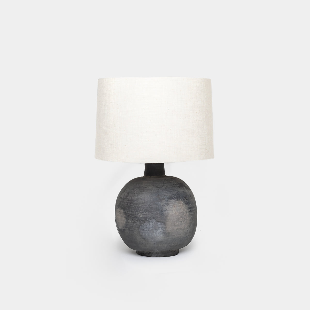 Load image into Gallery viewer, Charcoal Ceramic Jug Table Lamp