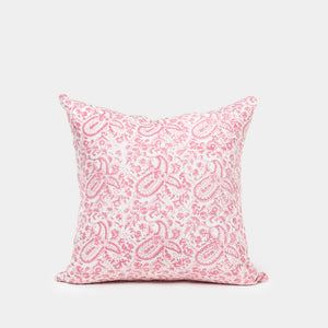 Meenakshi Rose and Taupe Pillow - Pillows - Designer – Shoppe Amber Interiors