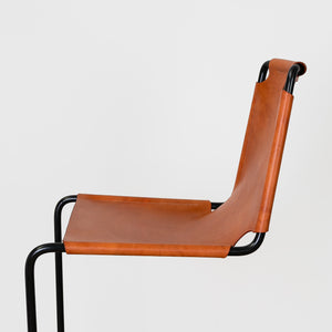 Leather and Iron Bar Stool by Dust