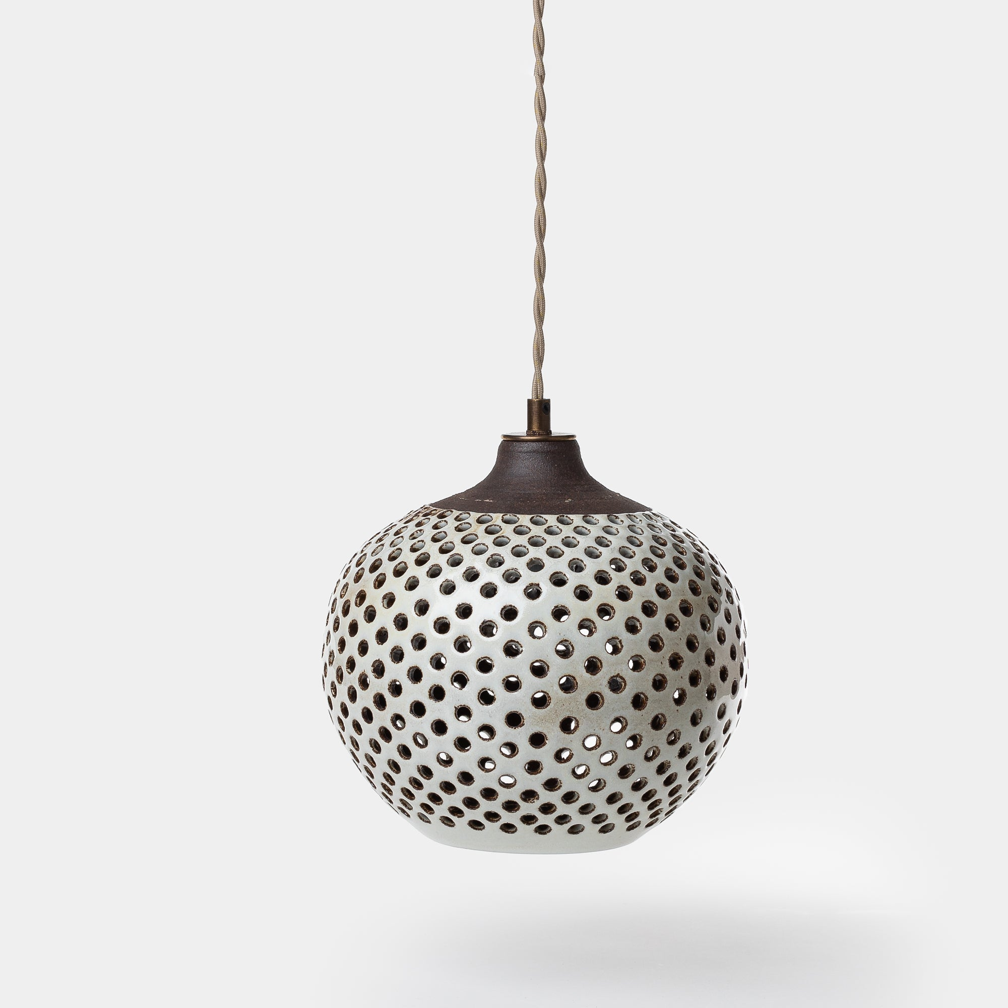 Medium Ceramic Dot Pendant by Heather Levine