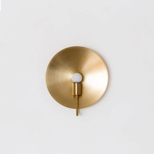 Helios ADA Sconce in Hewn Brass - Lighting - Designer - Sconces – Shoppe Amber Interiors