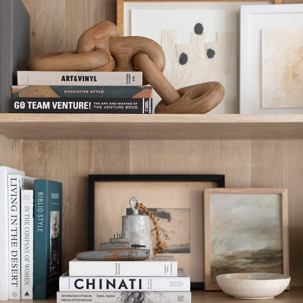 Load image into Gallery viewer, Oversized Wood Link Chain - Home Accessories – Shoppe Amber Interiors