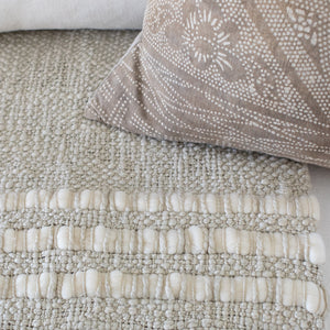 Alma Handwoven Cotton Throw Cement