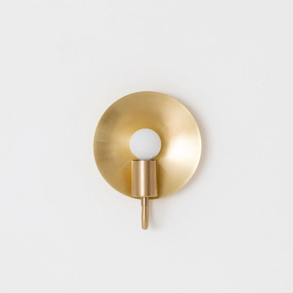 Orbit ADA Sconce in Hewn Brass - Lighting - Designer - Sconces – Shoppe Amber Interiors