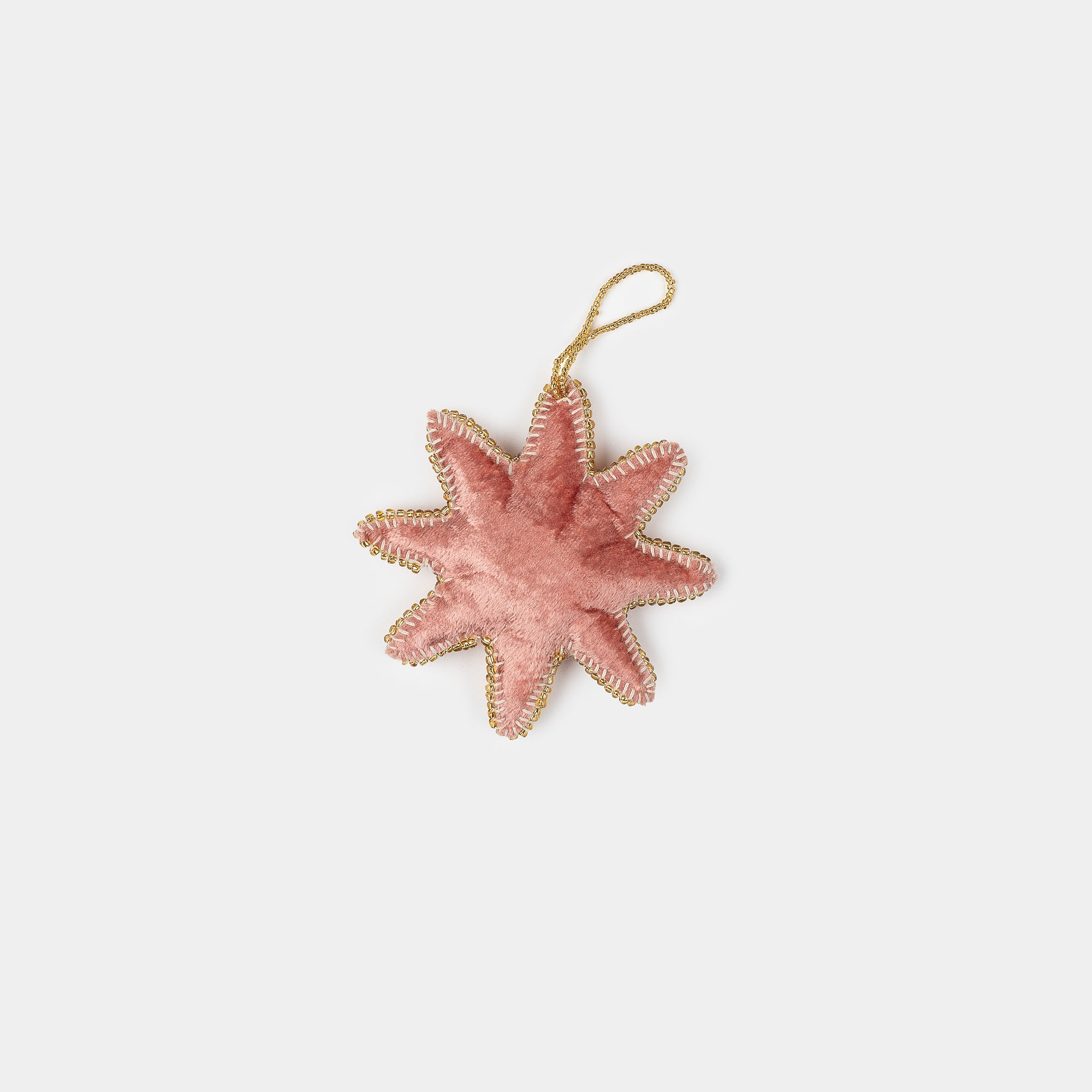 Velvet 8 Point Star Ornament Rose