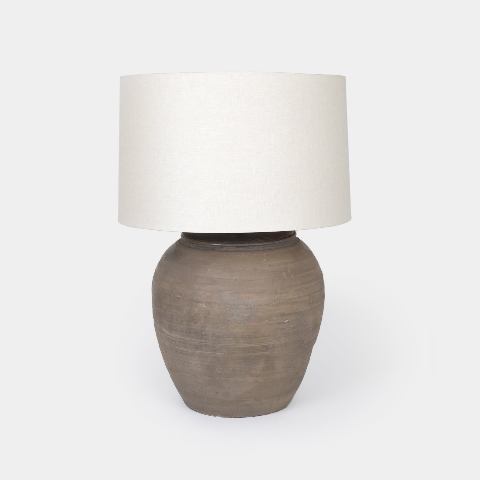 Grey Pottery Table Lamp -  – Shoppe Amber Interiors