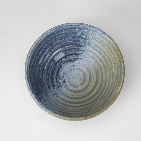 Stoneware Bowl Blue & Green