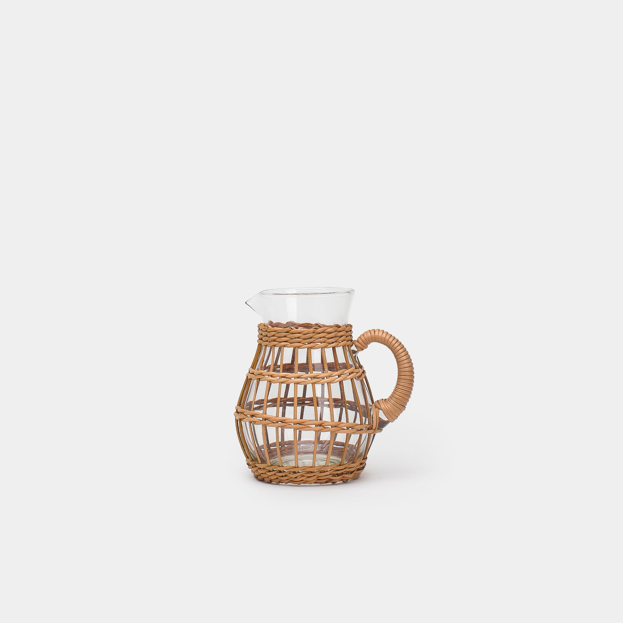 Rattan Cage Tall Pitcher -  – Shoppe Amber Interiors
