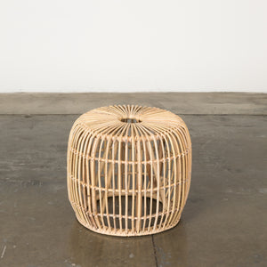 Rattan Round Accent Table