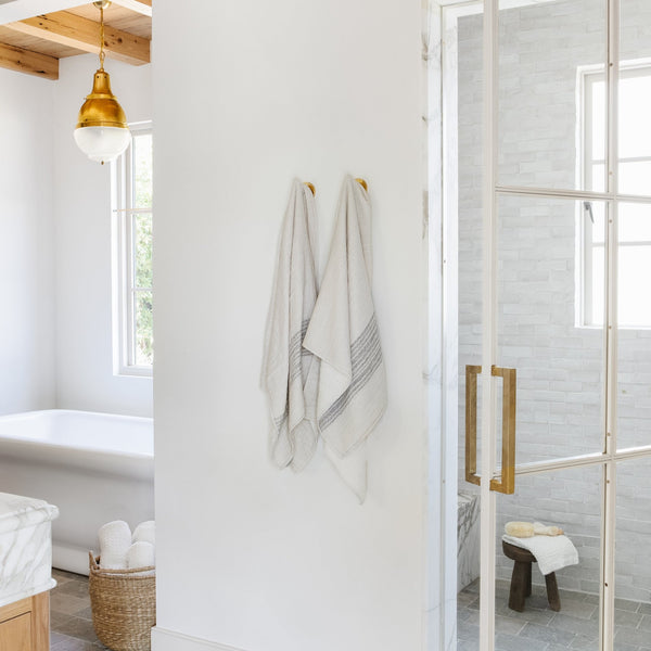 Flax Line Towel - Bath – Shoppe Amber Interiors