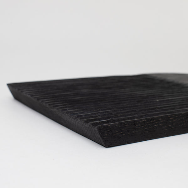 Large Ridged Board - Black - Home Accessories - Trays & Boards – Shoppe Amber Interiors
