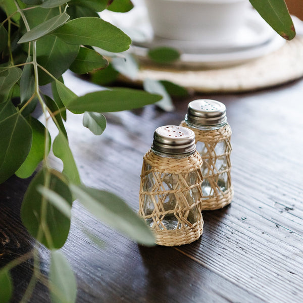 Seagrass Cage Salt & Pepper Set -  – Shoppe Amber Interiors