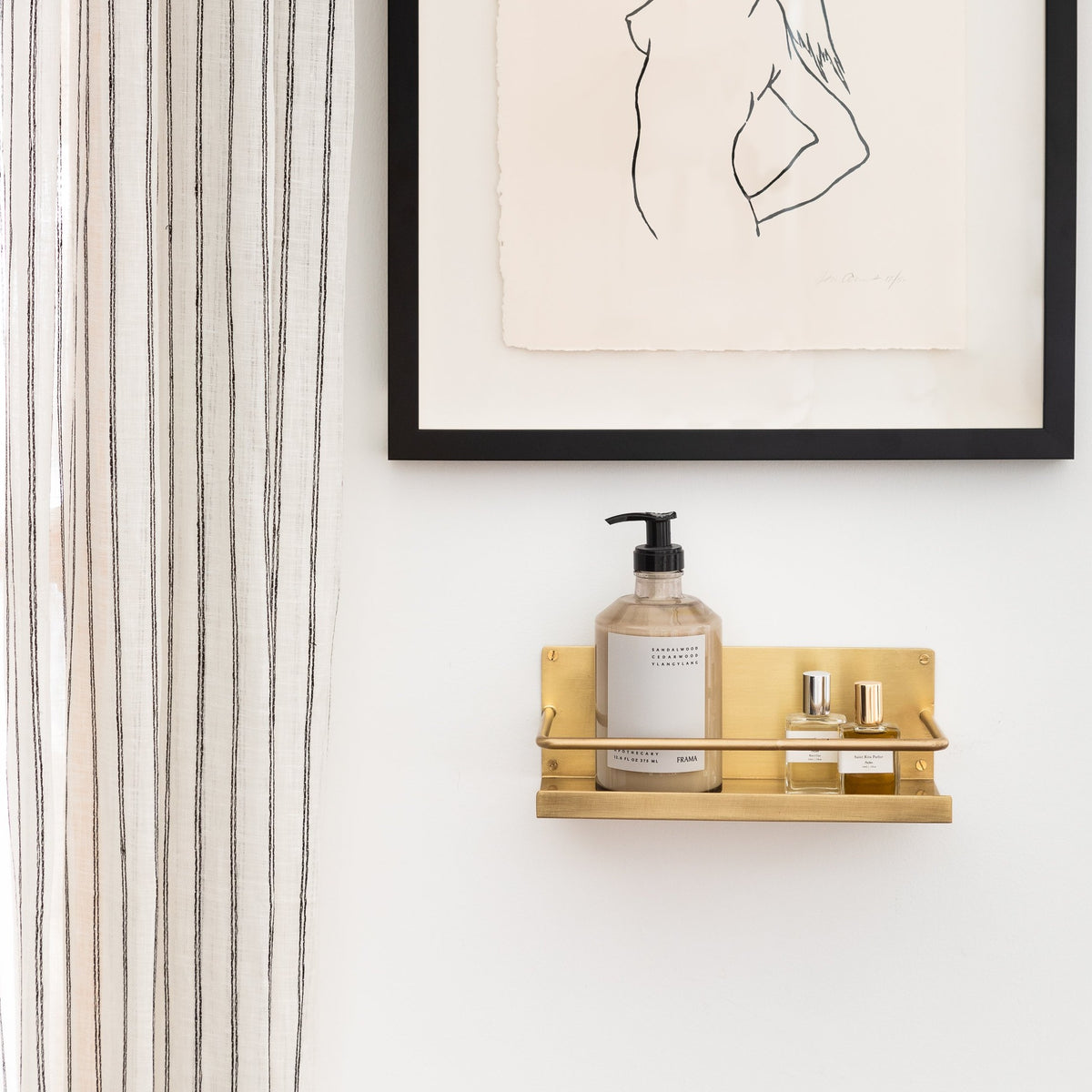 Load image into Gallery viewer, Brass Shelf - Home Accessories - Misc – Shoppe Amber Interiors