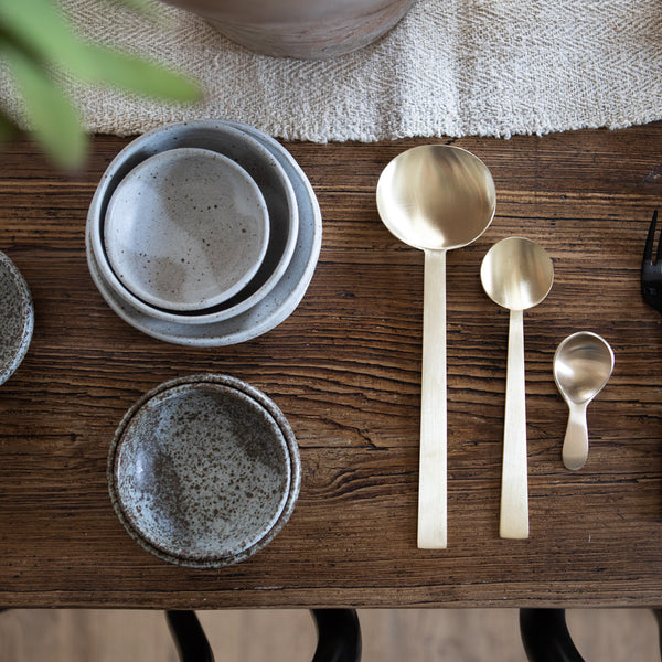 Brass Spoon Small - Kitchen & Dining - Flatware – Shoppe Amber Interiors