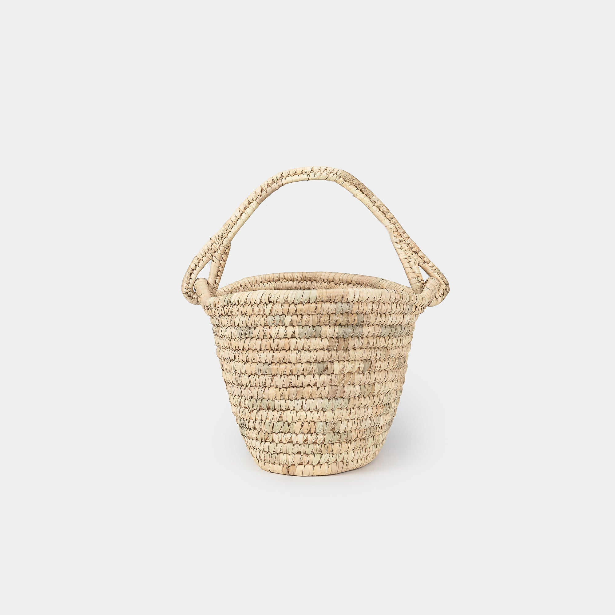 Oval Hand Woven Basket w/ Handle