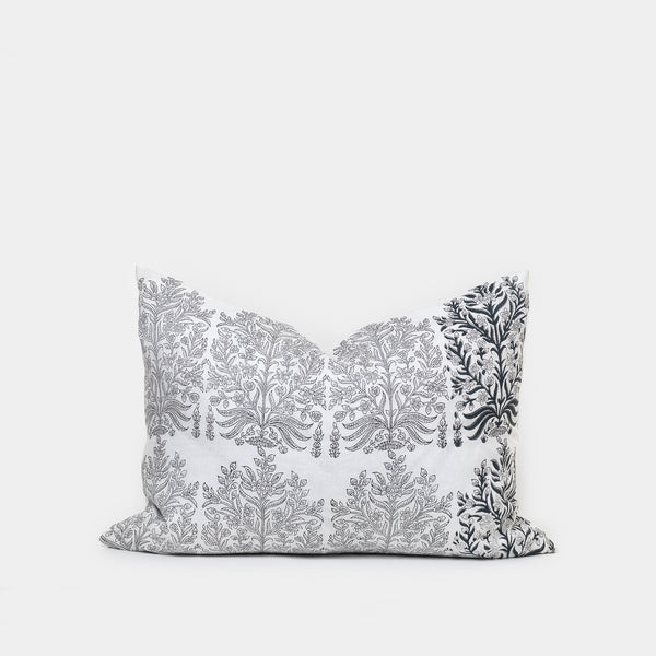 Fleur Gray Pillow - Pillows - Designer – Shoppe Amber Interiors