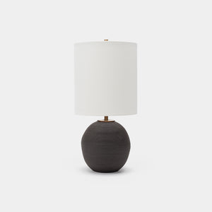 Small Orb Lamp Black Sand