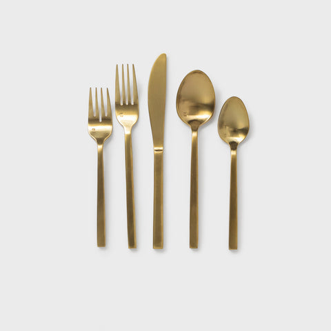 Shoppe Amber Interiors Brushed Gold Flatware
