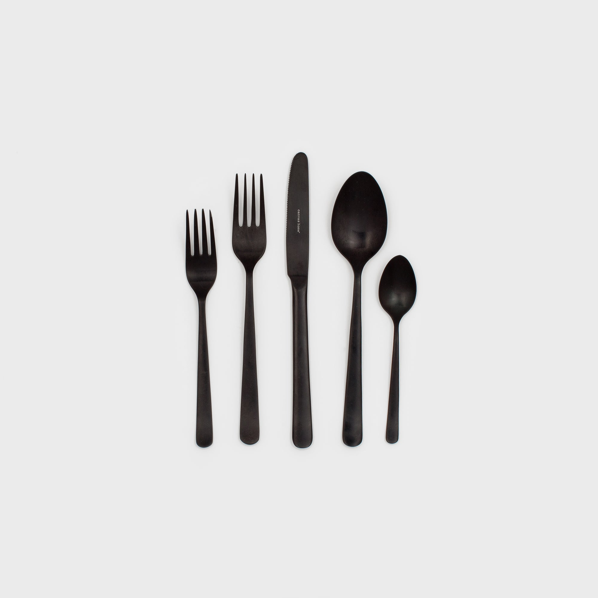 Oslo Matte Black Cutlery Set