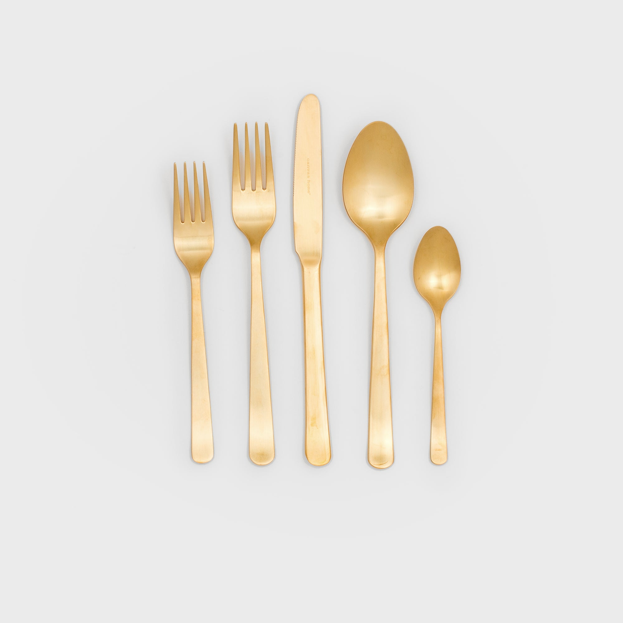 Oslo Matte Gold Cutlery Set -  – Shoppe Amber Interiors