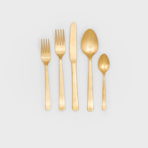 Oslo Matte Gold Cutlery Set - Flatware – Shoppe Amber Interiors