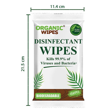 Organic Wipes Disinfectant Wipes 15s