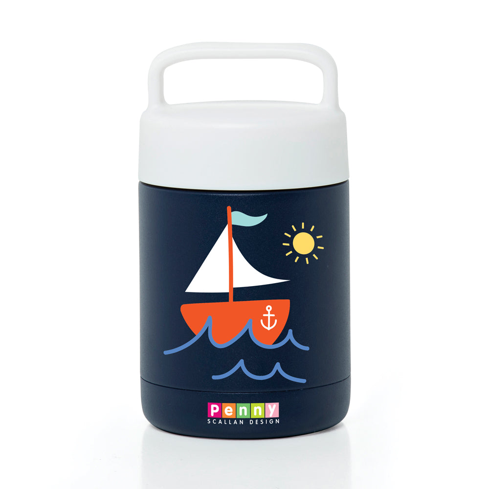 Penny Scallan Thermal Flask Food Jar - Anchors Away