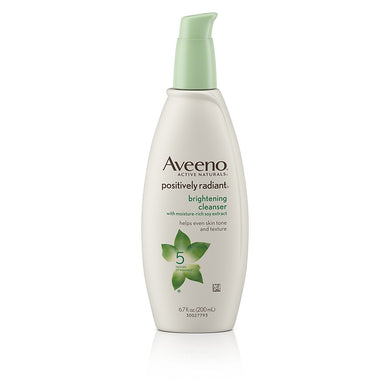 Aveeno Positively Radiant Cleanser with Moisture-rich Soy Extracts 6.8 fl.oz.
