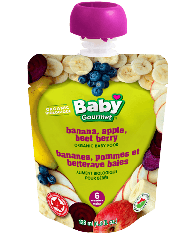 Baby Gourmet Banana, Apple, Beet and Berry 4.5 fl oz