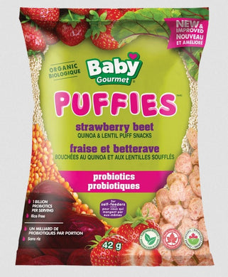 Baby Gourmet Strawberry Beet Puffies Puffs