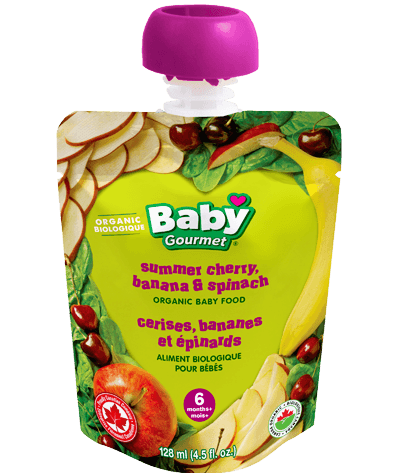 Baby Gourmet Summer Cherry, Banana and Spinach 4.5 fl oz