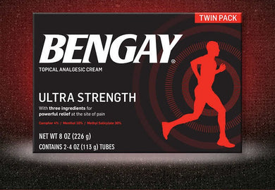Bengay Ultra Strength Pain Relieving Cream  4 oz (2 tubes)