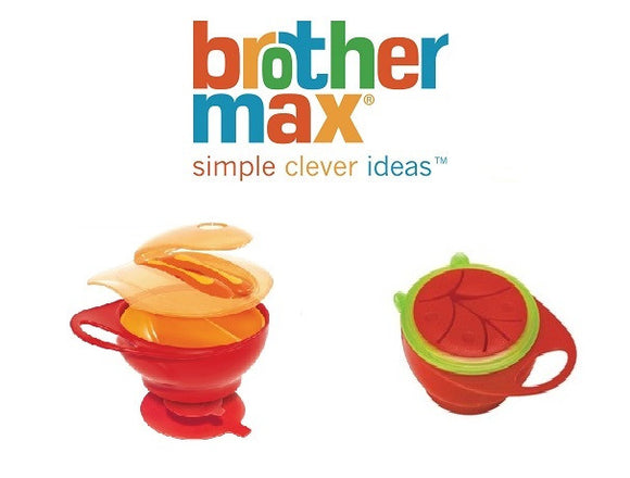 Brother Max Bundle of Easy Hold Weaning Bowl Set and Easy Hold Snack Pot Bowl
